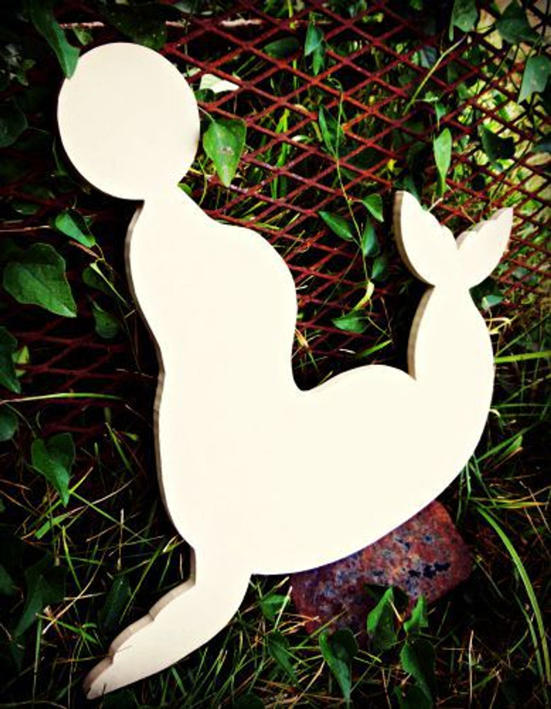 Circus Seal Unfinished Cutout, Wooden Shape,  Paintable MDF DIY Craft