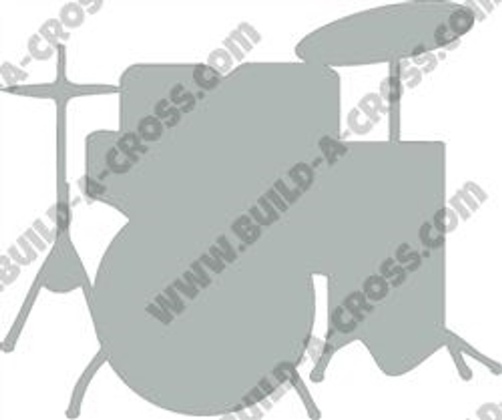Drum Set Unfinished Cutout, Wooden Shape, Paintable MDF DIY Craft