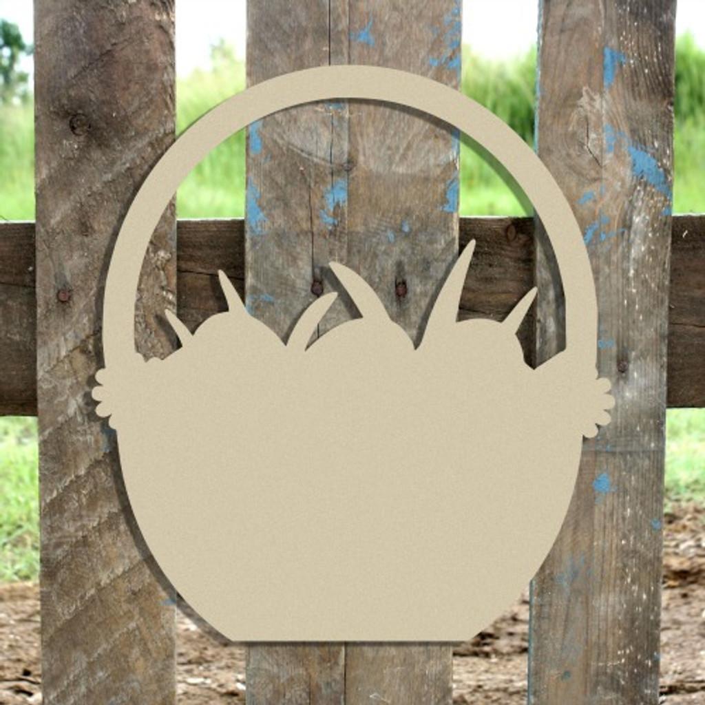 Easter Basket Unfinished Cutout, Wooden Shape, MDF DIY Craft
