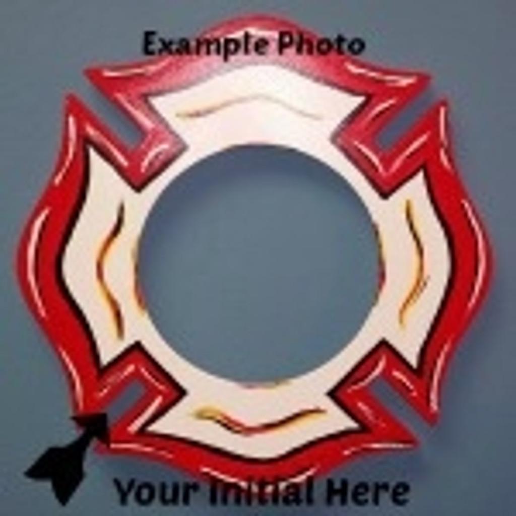 Fireman Cross Frame Letter Insert Wooden Monogram Unfinished DIY
