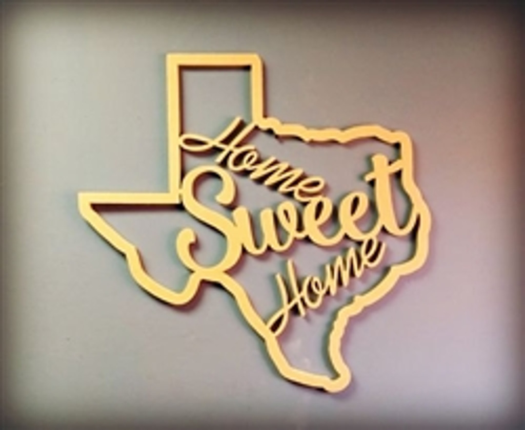 Framed State Home Sweet Home Wooden Art DIY Craft MDF