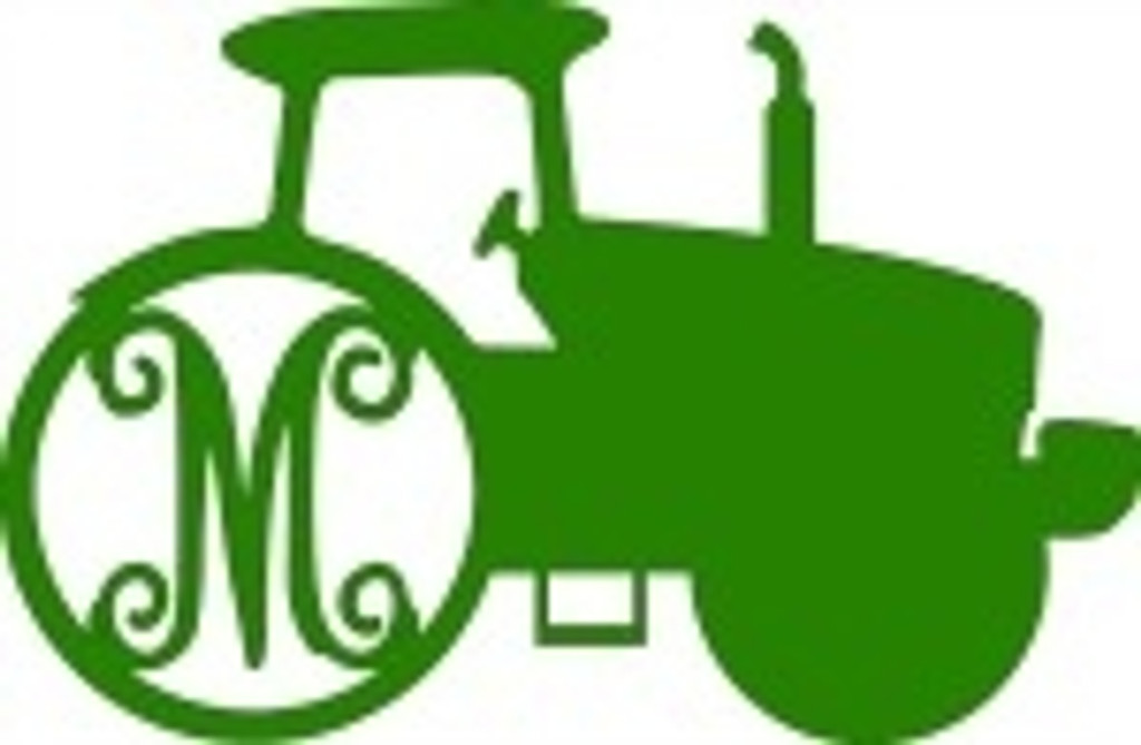 Farm Tractor Wooden Letter Monogram DIY Unfinished Crafts