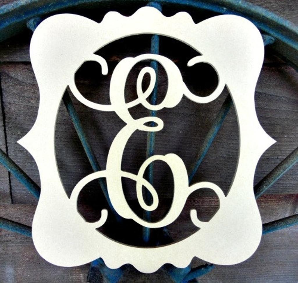 Katie Framed Monogram Letter Unfinished DIY Craft
