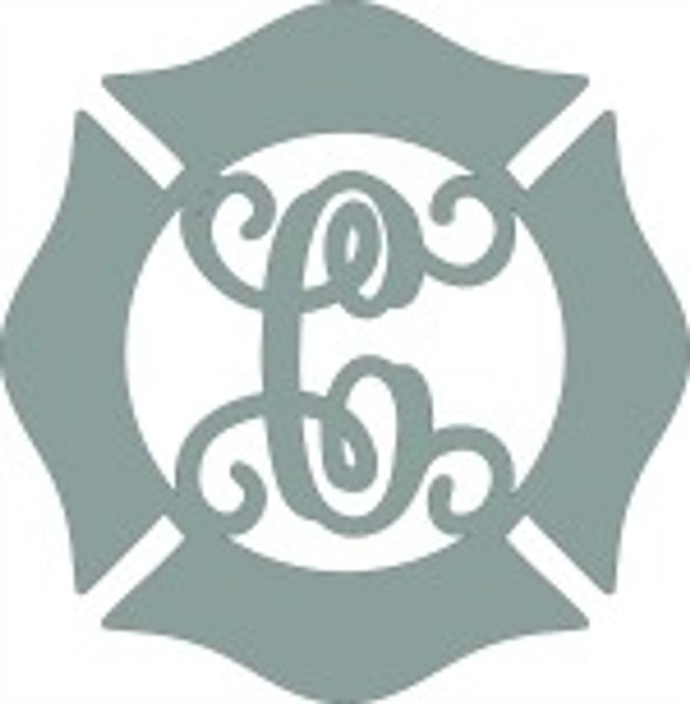 Fireman Badge Monogram Wooden Letter DIY Unfinished Crafts