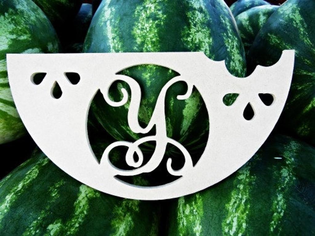Monogram Letter, Watermelon Frame Wooden - Unfinished  DIY Craft
