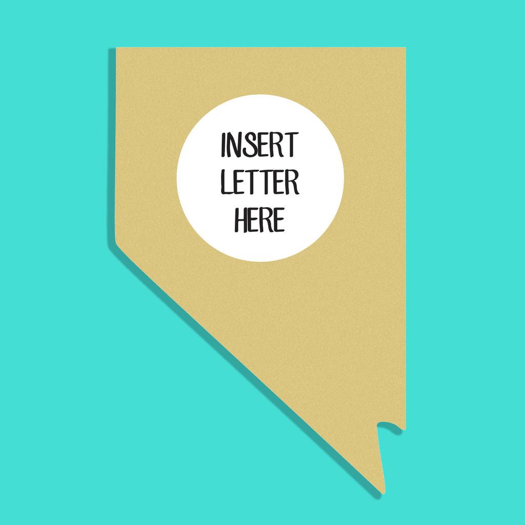 Nevada Frame Letter Insert Wooden Monogram Unfinished DIY Craft