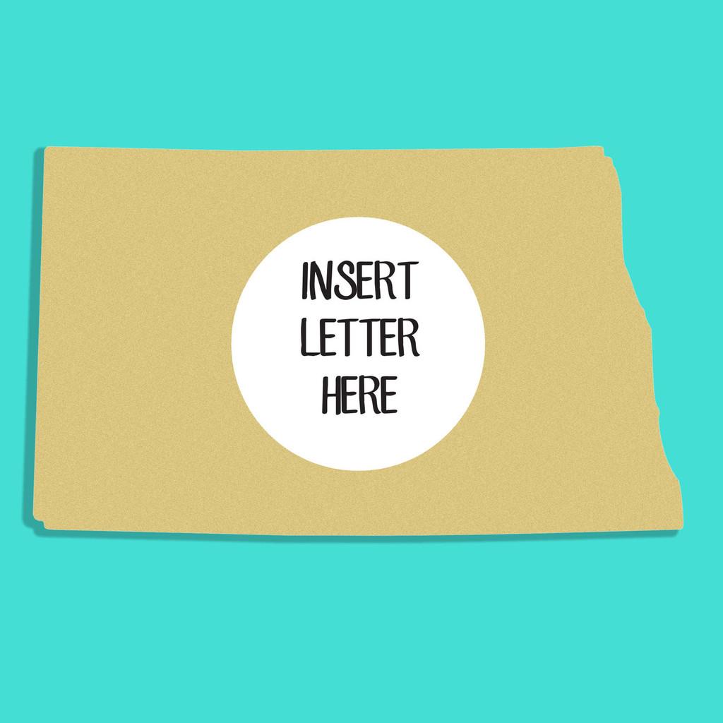 North Dakota Frame Letter Insert Wooden Monogram Unfinished Craft