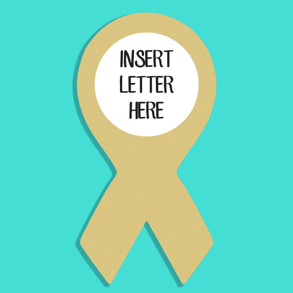 Ribbon Frame Letter Insert Wooden Monogram Unfinished DIY Craft
