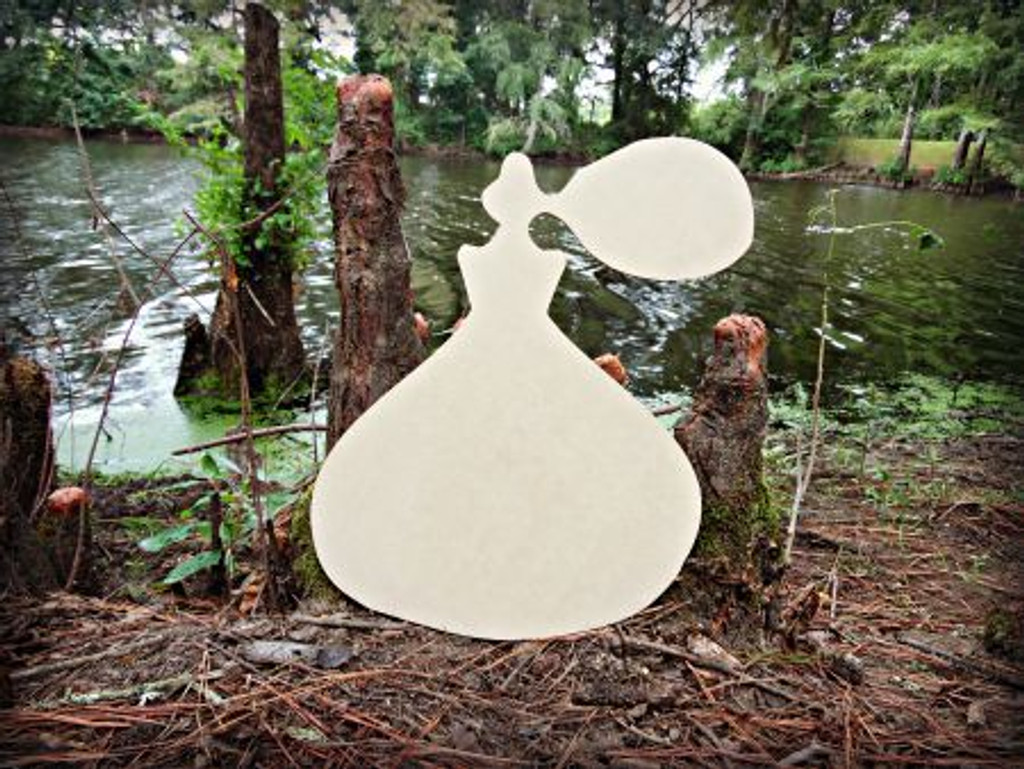 Perfume Unfinished Cutout, Wooden Shape, Paintable Wooden MDF DIY Craft