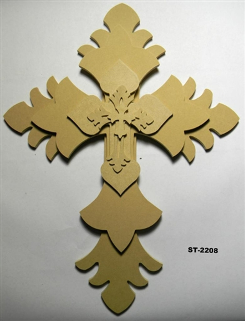 Unfinished Wooden Stacked Kit 8 Layered Crosses 22'' Sets Paintable