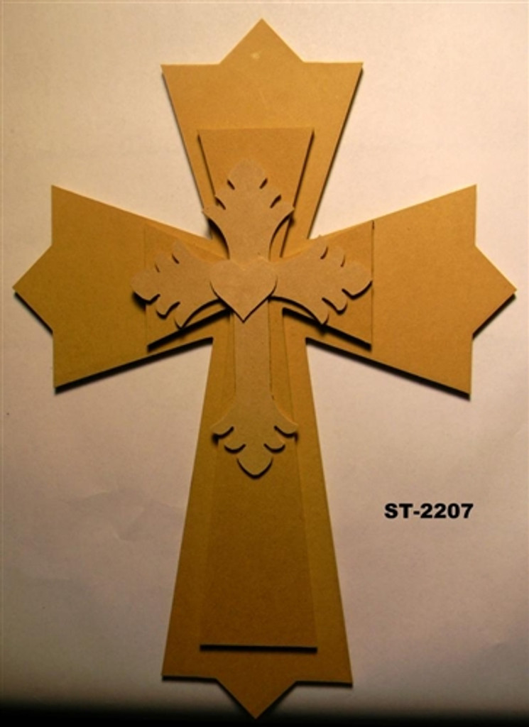 Unfinished Wooden Stacked Kit 7 Layered Crosses 22'' Sets Paintable