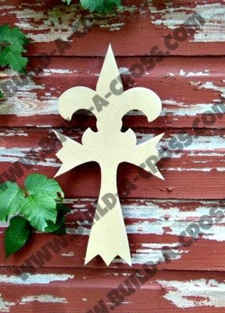 Cross 2 Unfinished Wooden Paintable Wall Hanging Stackable