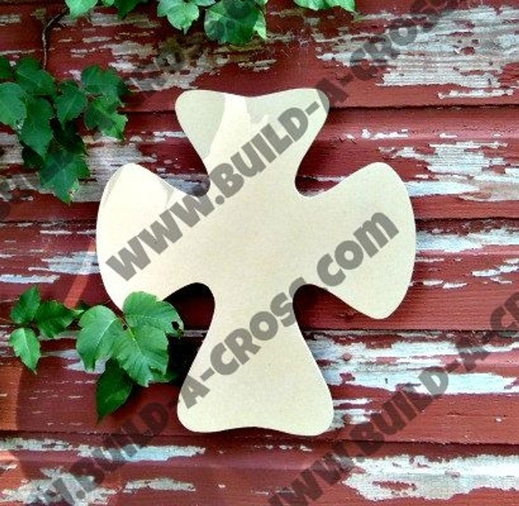 Cross 23 Unfinished Wooden Paintable Wall Hanging Stackable