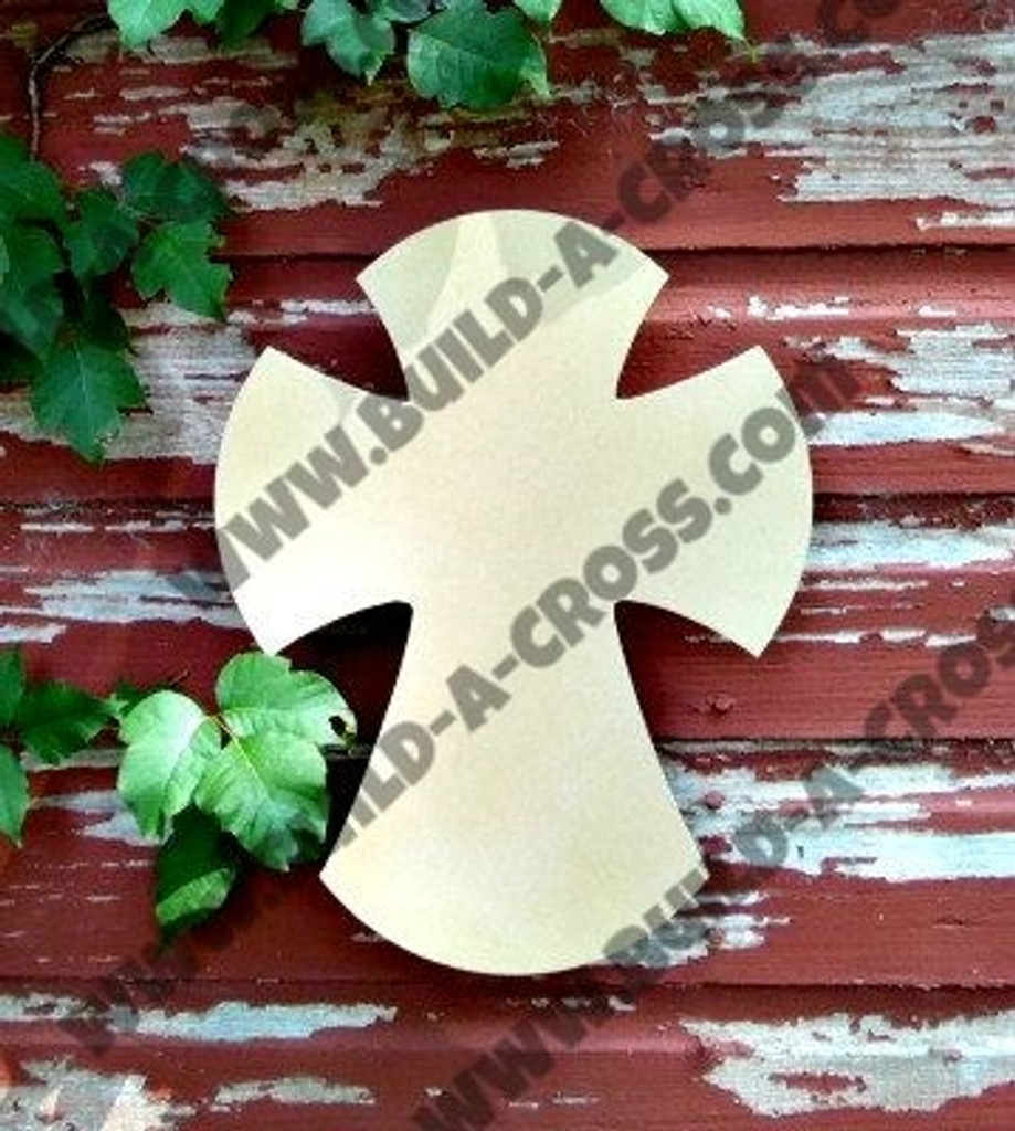 Cross 24 Unfinished Wooden Paintable Wall Hanging Stackable