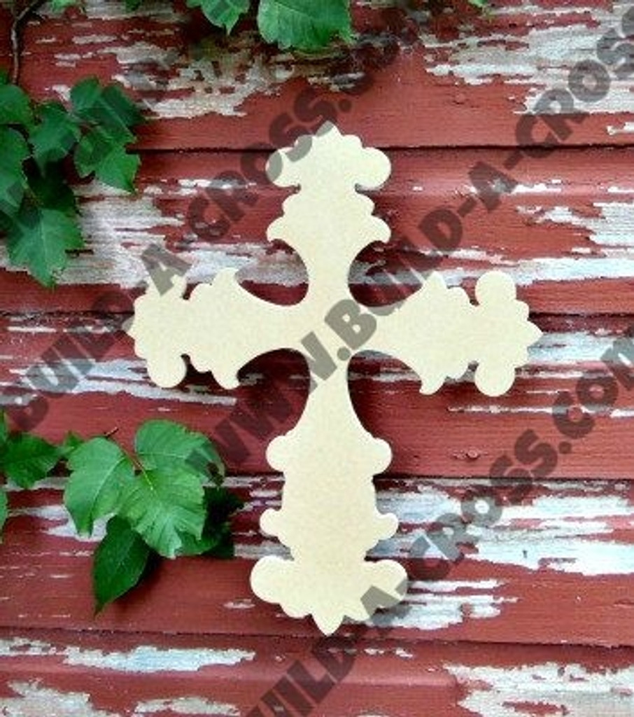 UNFINISHED WOODEN CROSS PAINTABLE WALL HANGING STACKABLE CROSS 36
