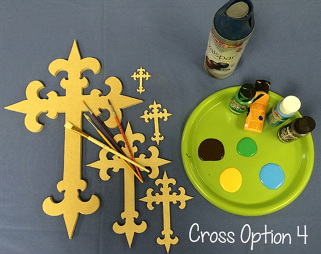 UNFINISHED WOODEN CROSS PAINTABLE WALL HANGING STACKABLE CROSS 4