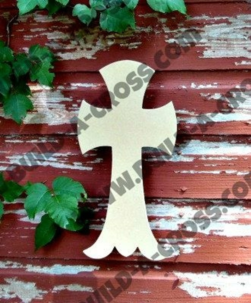 Unfinished Wooden Cross Paintable Wall Hanging Stackable Cross 68