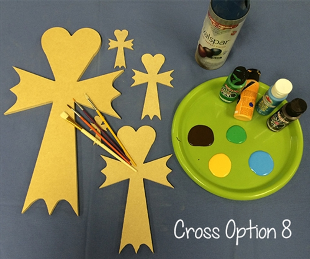 Paintable Wall Hanging Stackable Cross Unfinished Wooden Cross