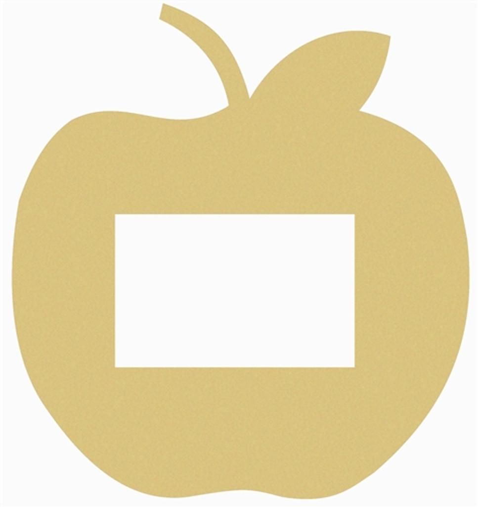 Unfinished Picture Frames Paintable Cutout Shape apple