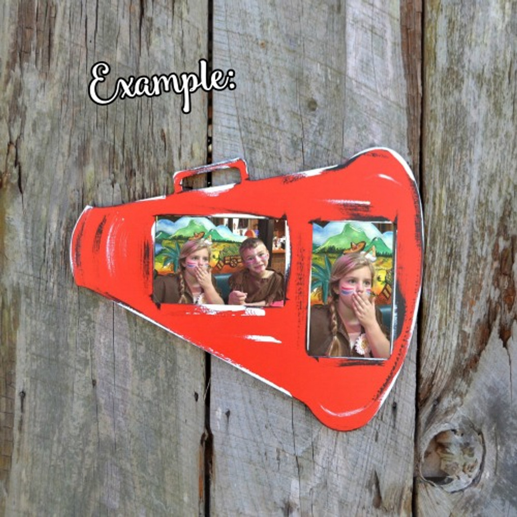 Unfinished Picture Frames Paintable Cutout Shape Megaphone