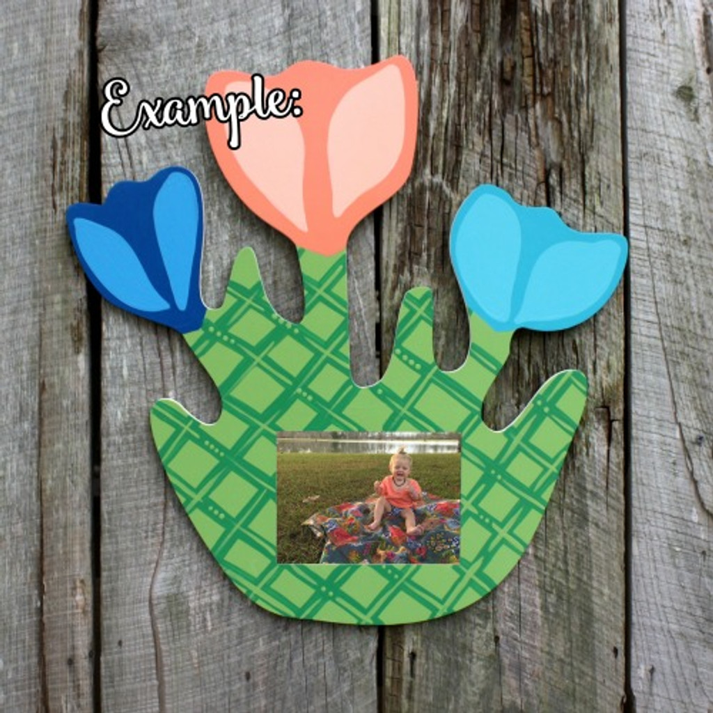 Unfinished Picture Frames Paintable Cutout Shape Tulips