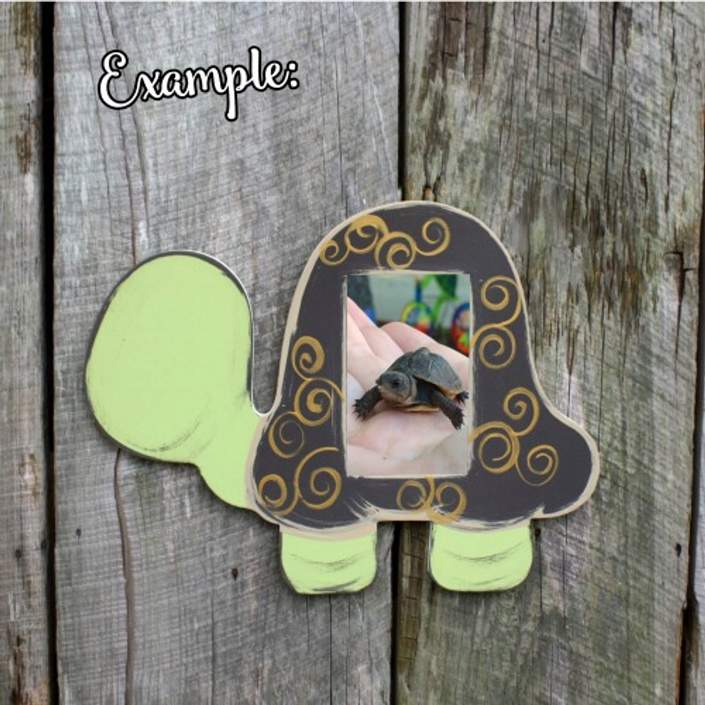 Unfinished Picture Frames Paintable Cutout Shape Turtle
