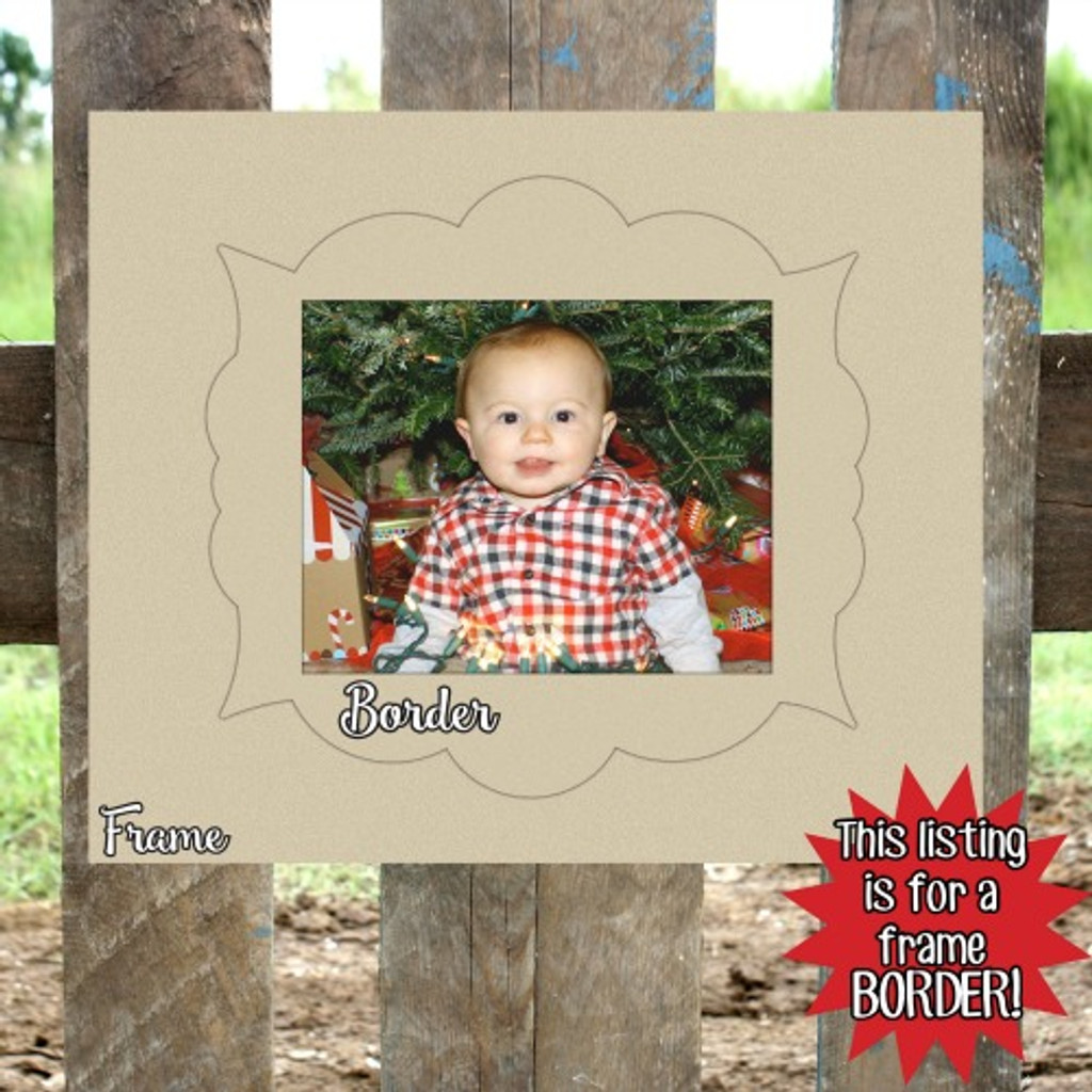 Unfinished Wooden Photo Kristin Frame Border