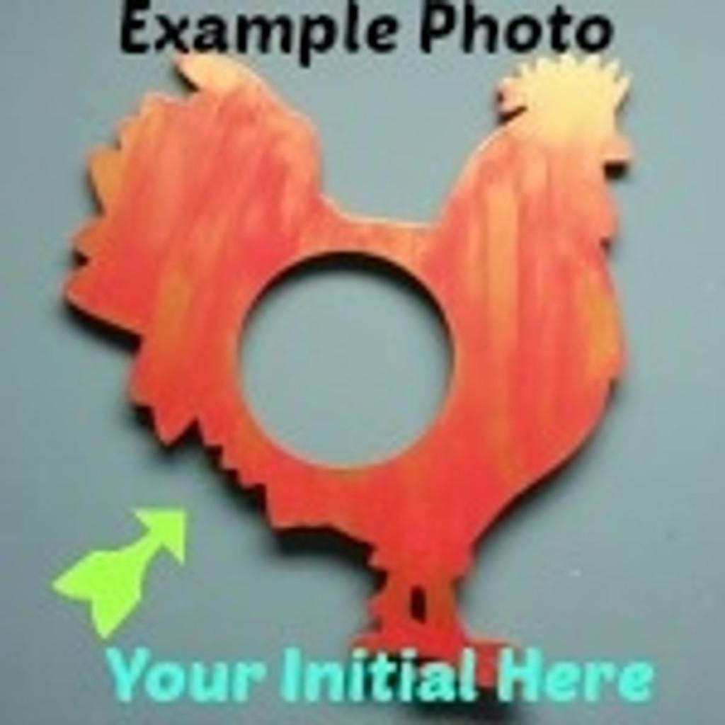 Rooster Frame Letter Insert Wooden Monogram Unfinished DIY Craft