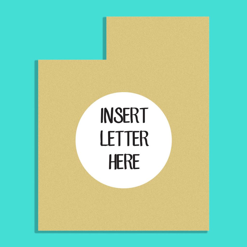 Utah Frame Letter Insert Wooden Monogram Unfinished DIY Craft