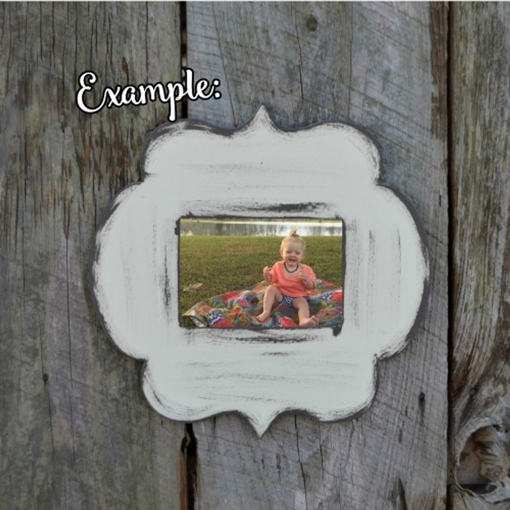 Unfinished Whimsical Picture Frame Wooden Paintable Wood Anna Claire