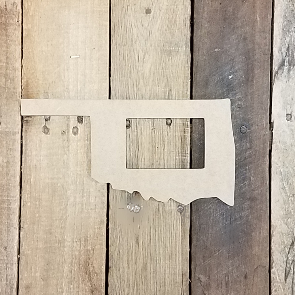 Unfinished Oklahoma State Picture Frame