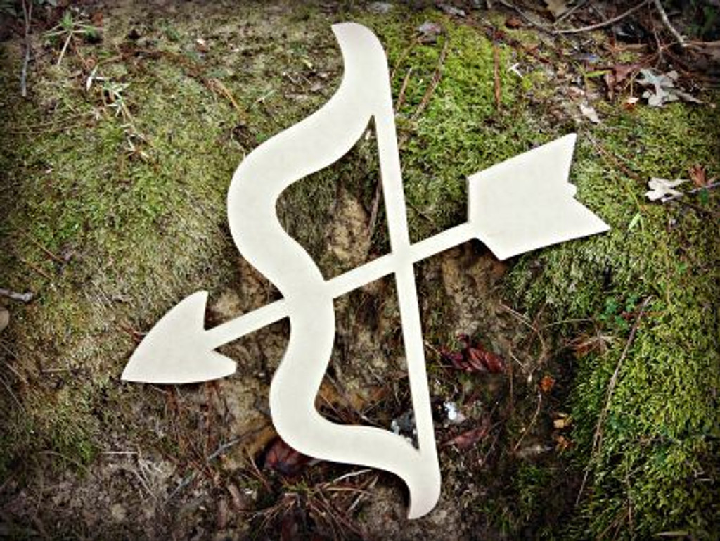 Bow and Arrow Unfinished Cutout, Wooden Shape, Paintable MDF  Craft