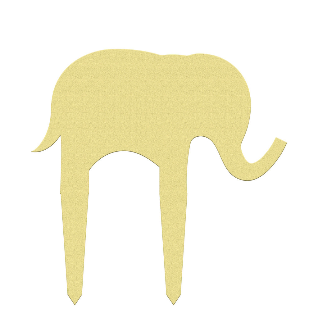Unfinished outdoor DIY wooden yard art pattern cute elephant sign