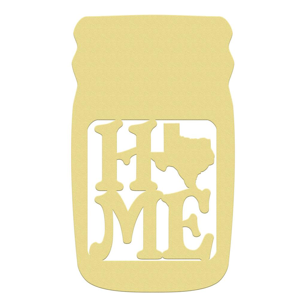 Mason Jar Frame Home State, Letter Frame Wooden Unfinished DIY Craft