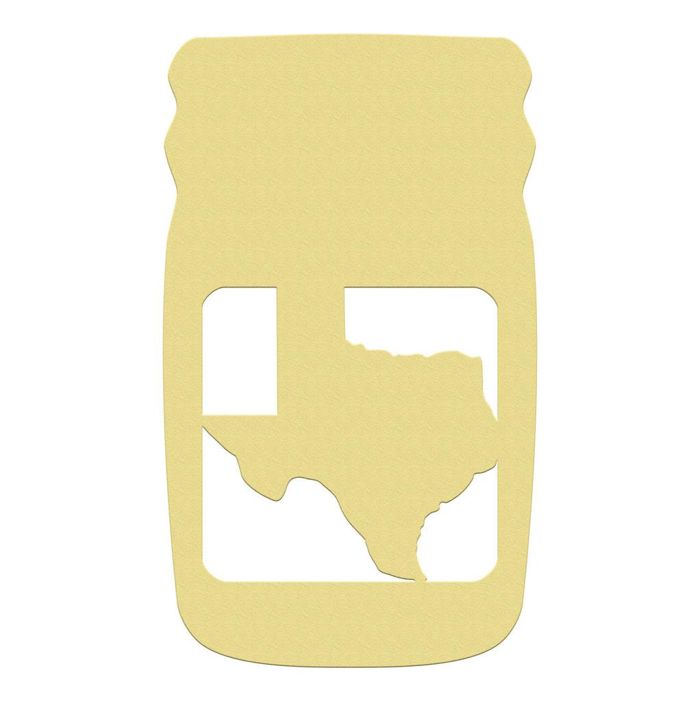 Mason Jar Frame State, Letter Frame Wooden Unfinished DIY Craft