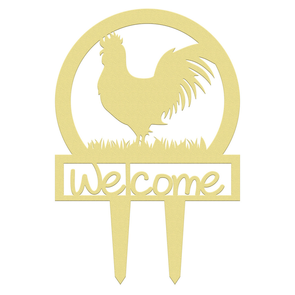 Unfinished outdoor welcome DIY wooden yard art pattern rooster sportsman sign