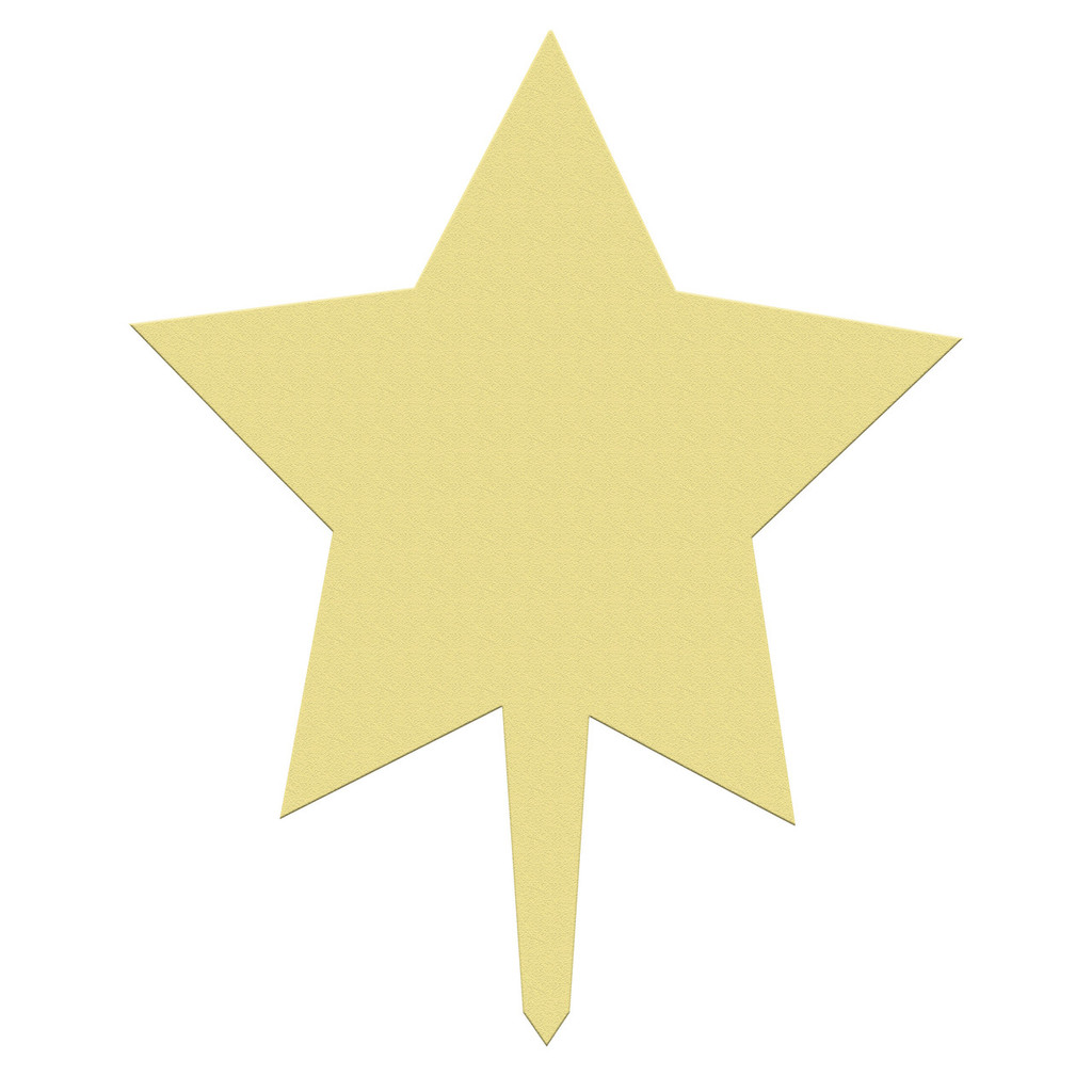 Unfinished outdoor DIY wooden yard art pattern star 2 sign