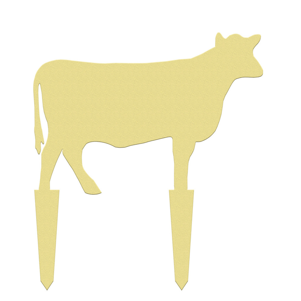 Unfinished outdoor DIY wooden yard art pattern cow sign