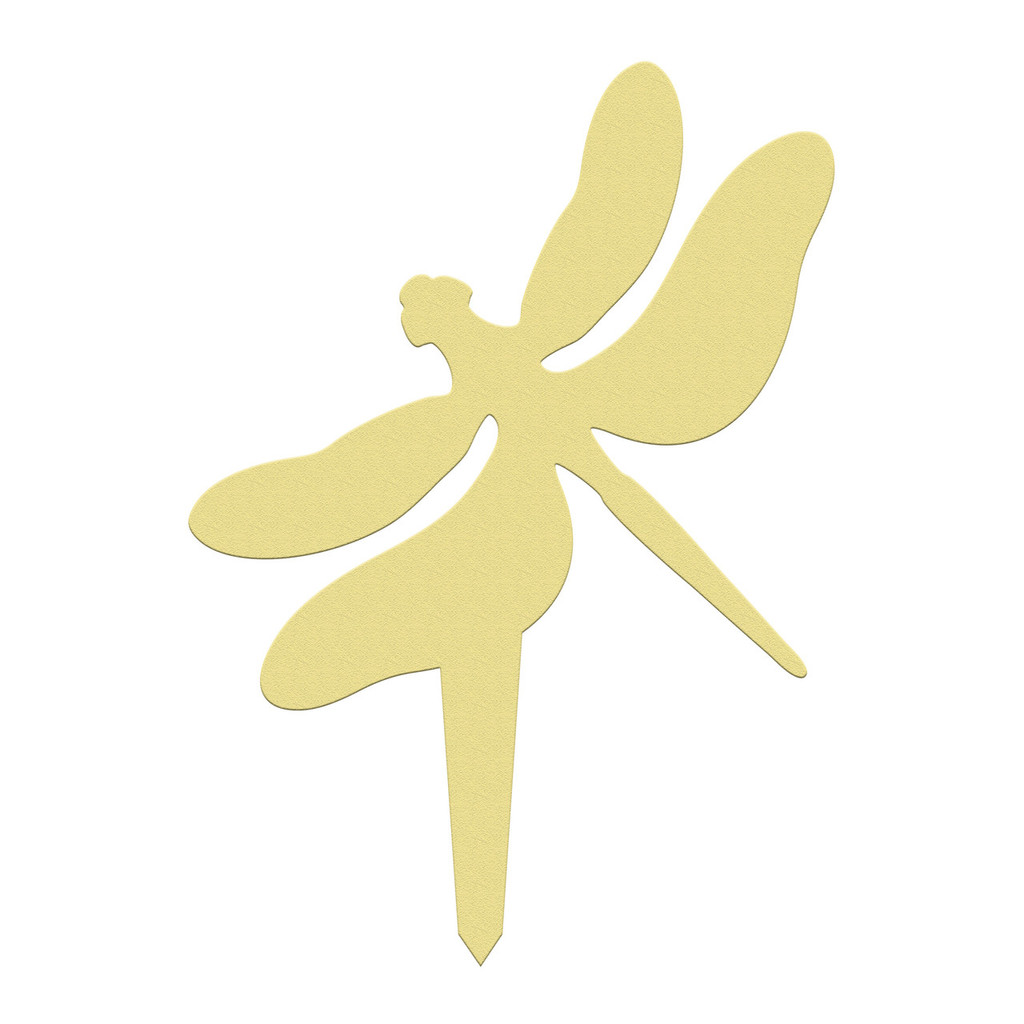 Unfinished outdoor DIY wooden yard art pattern dragonfly sign