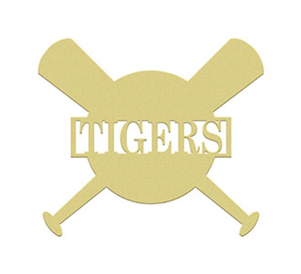 Baseball BATBALL Frame Family Name, Unfinished Framed Monogram