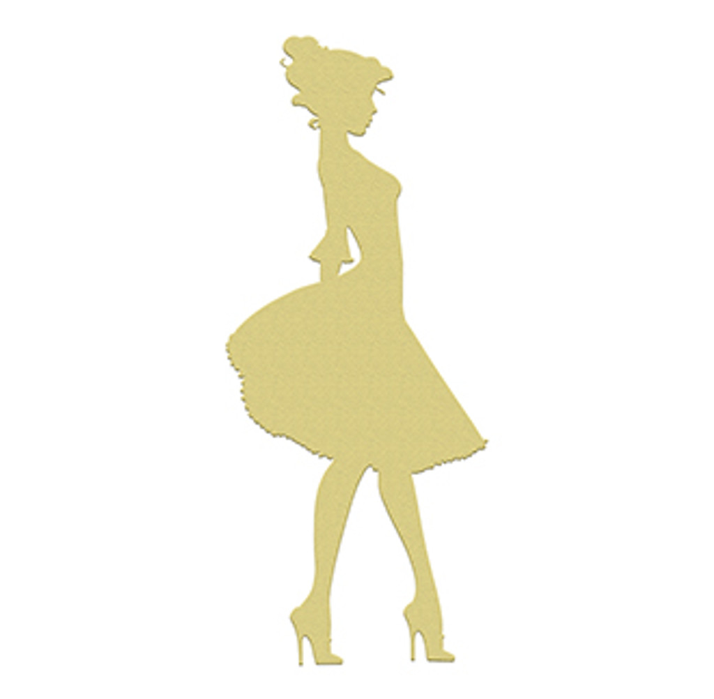 Dance Woman Unfinished Cutout, Wooden Shape, Paintable MDF DIY Craft