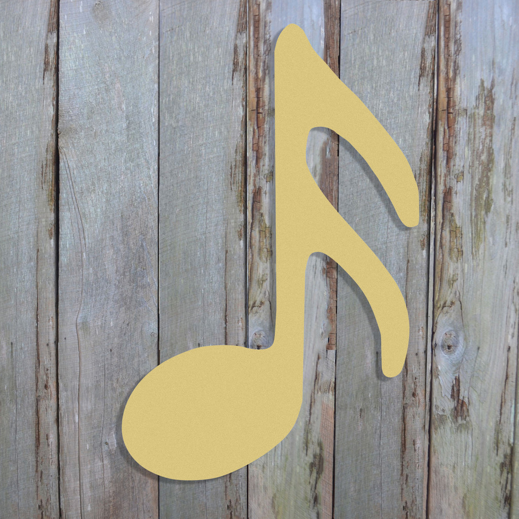 Sixteenth Note Unfinished Cutout, Wooden Shape, Paintable Wooden MDF