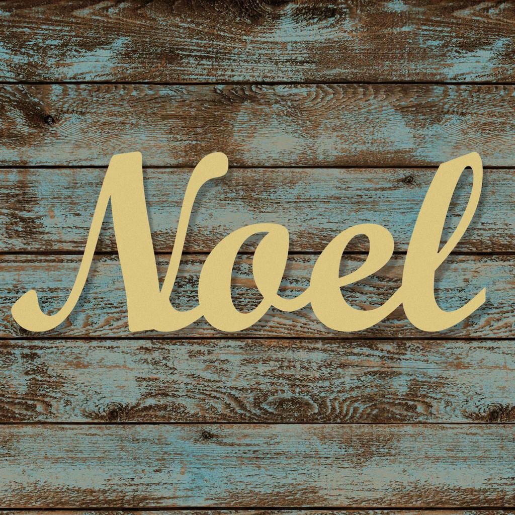 Diy Noel.Unfinished Wooden Connected Script Word Noel Alphabet Paintable Diy