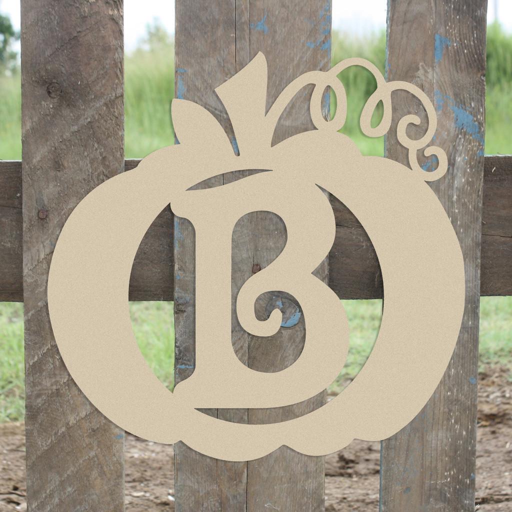 Frame Beltorian Letter, Pumpkin Wooden - Unfinished  DIY Craft