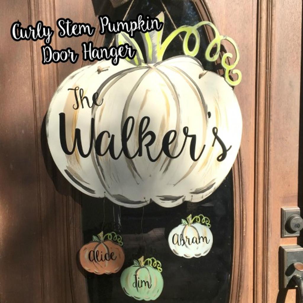 Curly Stem Pumpkin Door Hanger Cutout Blog