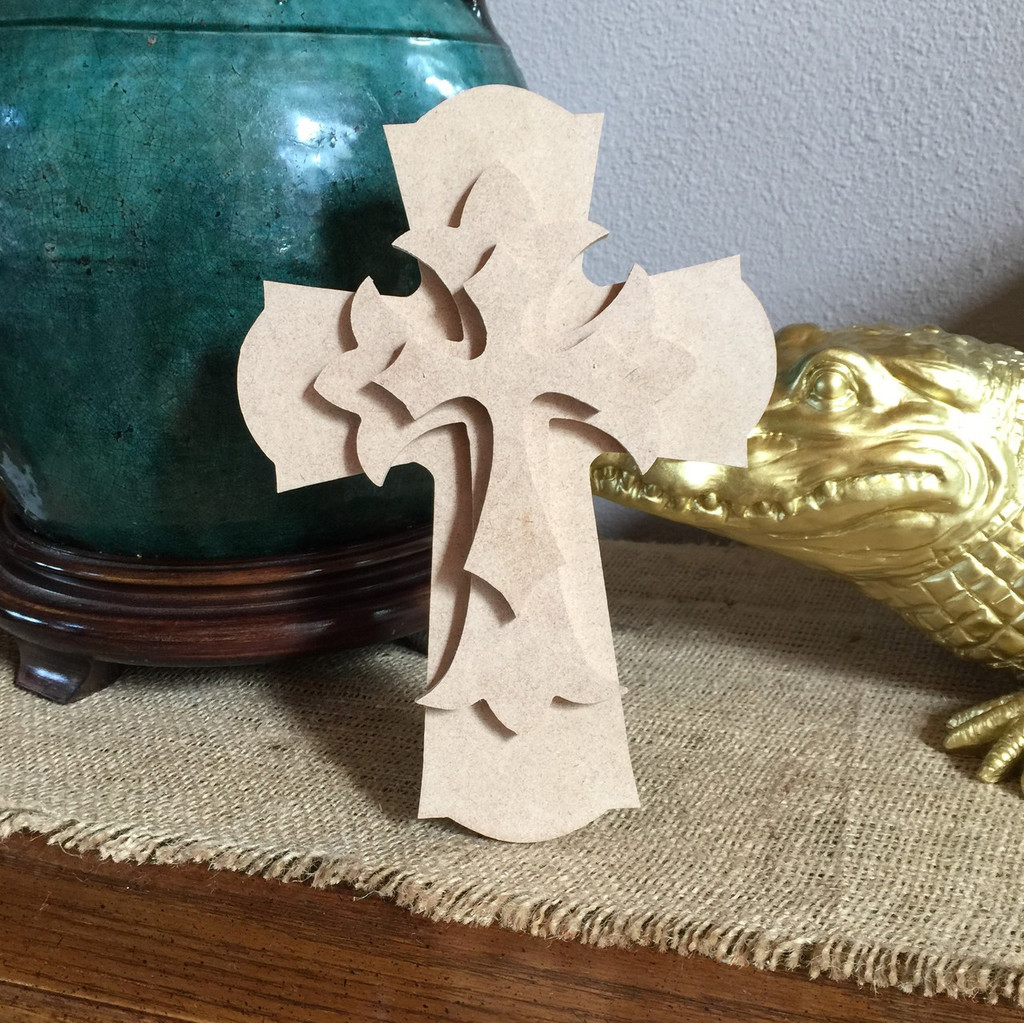 Unfinished Free Standing Cross Kit, #61