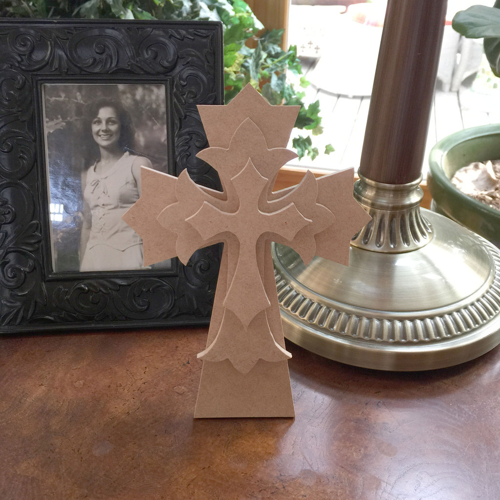Unfinished Free Standing Cross Kit, #47