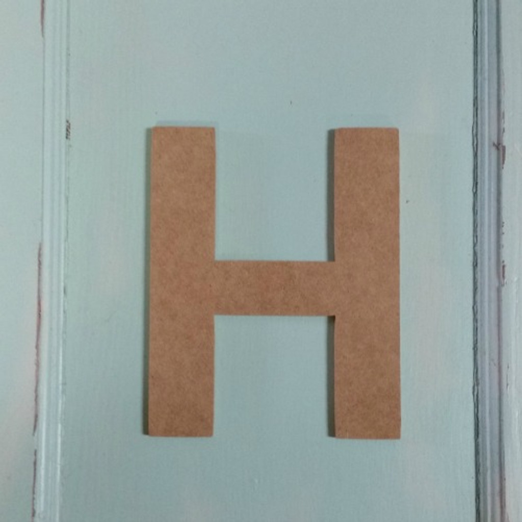Custom wooden lettering come great as unpainted letters.