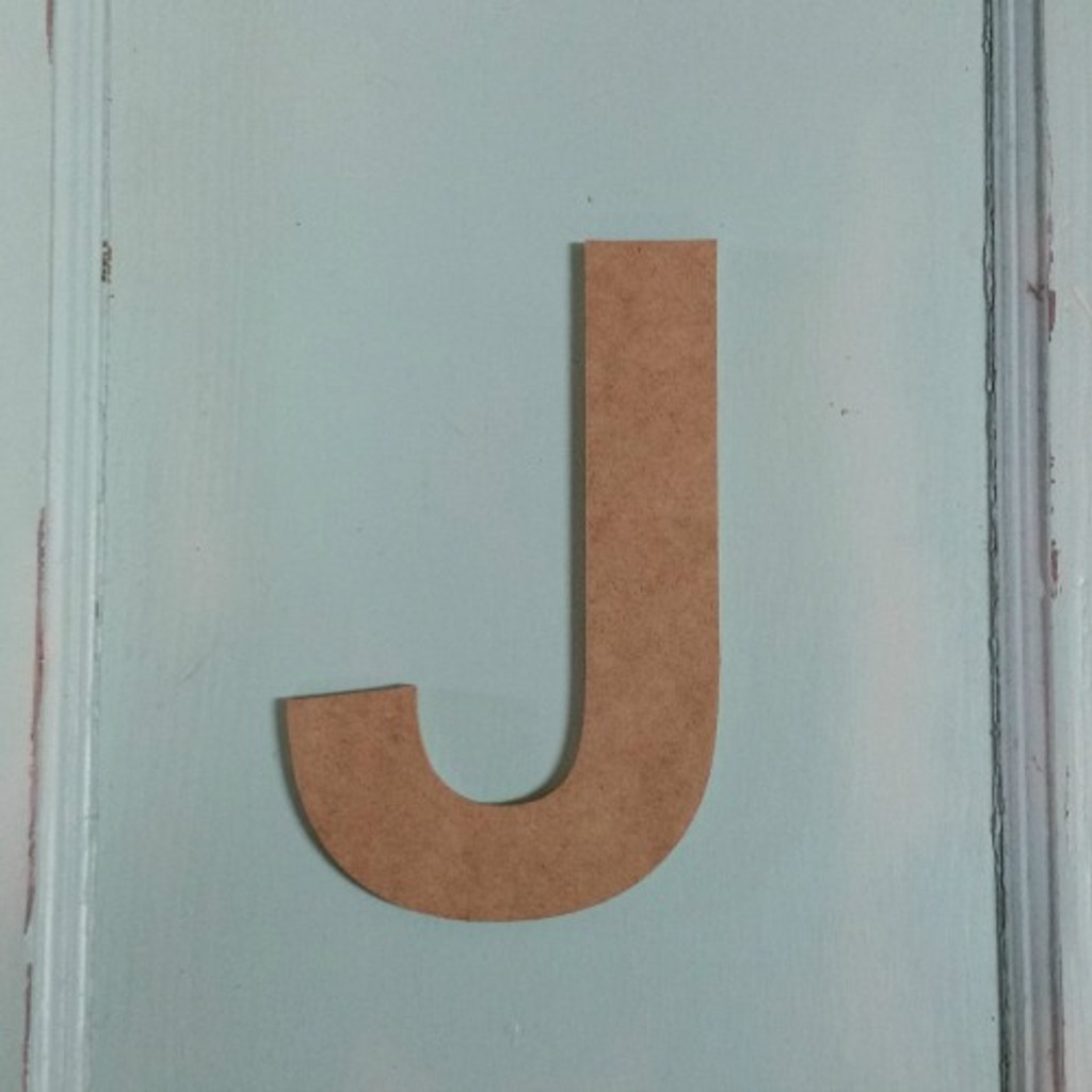 Unpainted wooden wall letters look great with arrow cut outs.