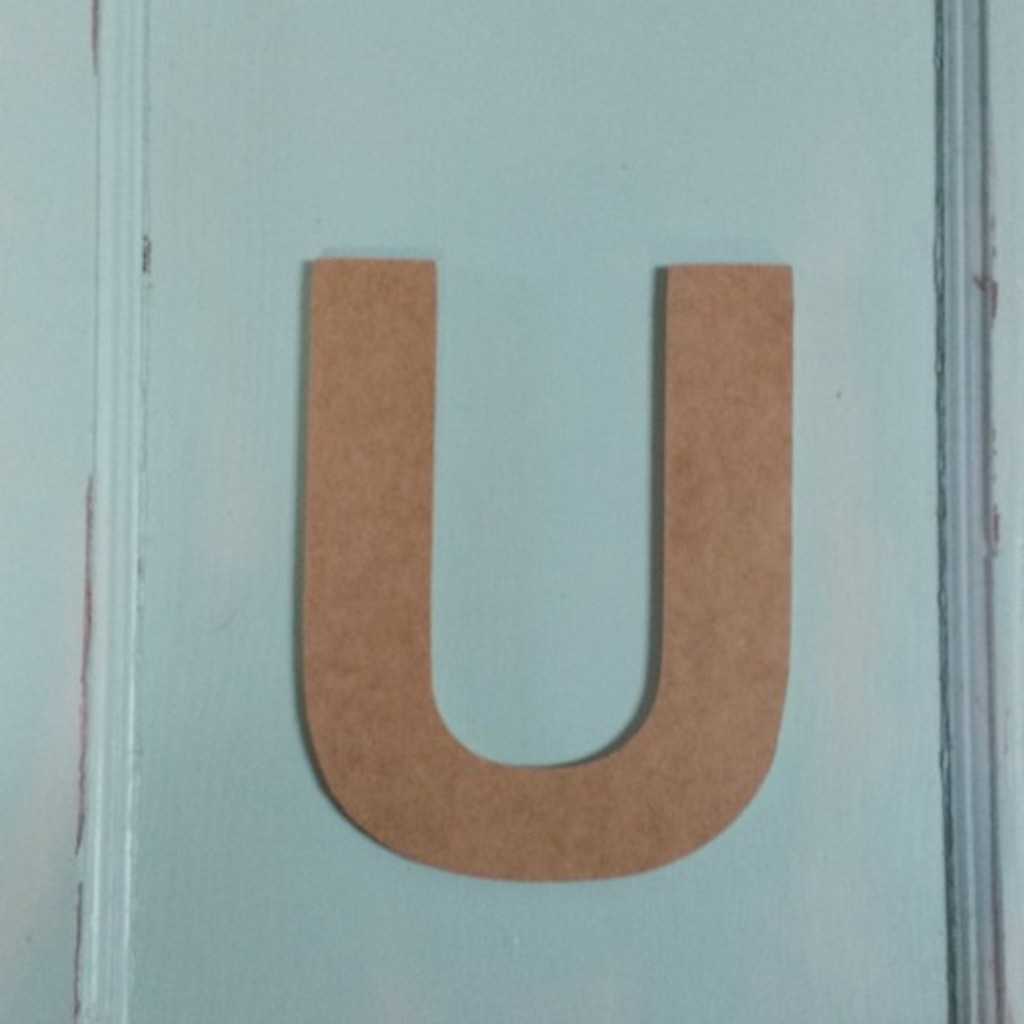 Wooden letters decor look great with our painted wood shapes for crafts.